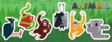 £6.28 Fun Animals Self-adhesive Stamps M/S (20% off)